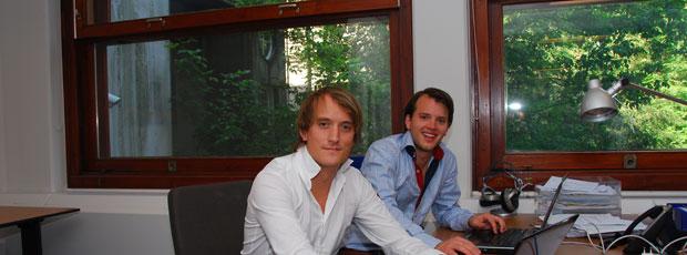 Elwin Groenevelt in de studio bij BNR Nieuwsradio