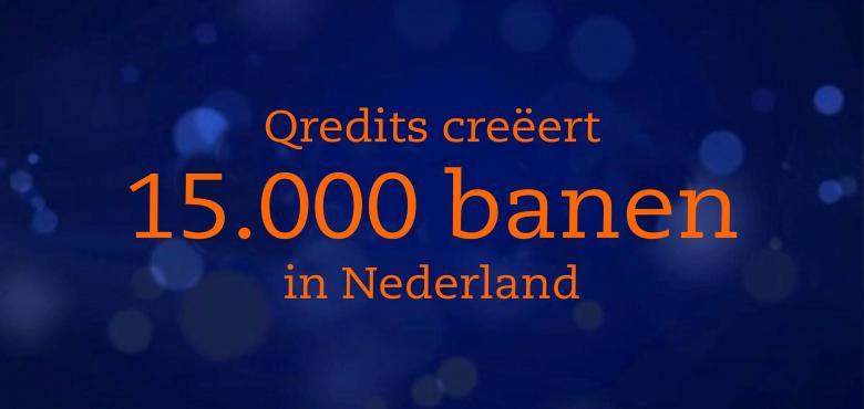 Qredits creëert 15.000 banen in Nederland