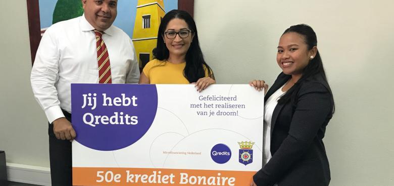 50ste Microkrediet verstrekt op Bonaire