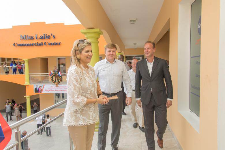 Koninklijk bezoek voor de Qredits ondernemers op St. Maarten