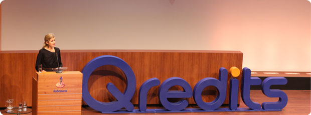 Hare Majesteit Koningin Máxima op 5-jarig Qredits jubileum