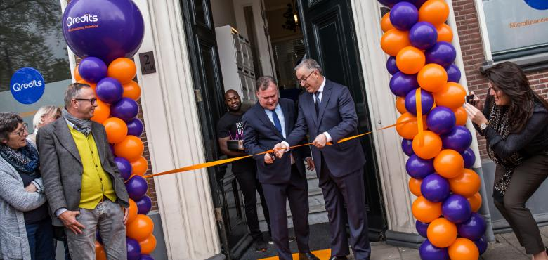 Aboutaleb opent kantoor Qredits