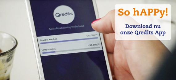 Download nu de Qredits app