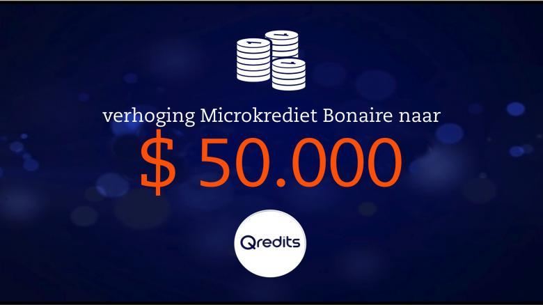 Qredits verhoogt microkrediet tot $ 50.000