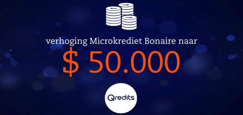 Qredits verhoogt microkrediet Bonaire tot $ 50.000